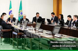 Eliseu Padilha - Reunião com ministros do núcleo de infraestrutura