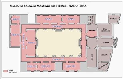 Planimetria Museo Nazionale Romano (Piano Terra)