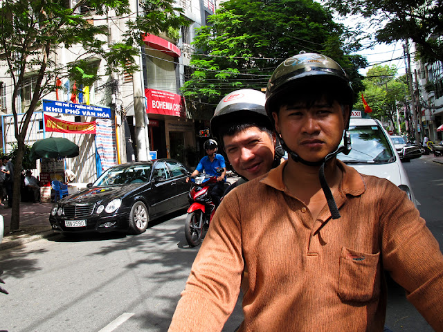motorbike ride in saigon
