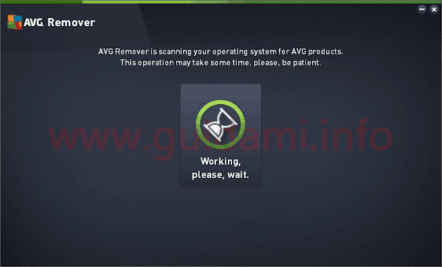 AVG Remover interfaccia grafica