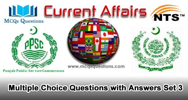 Current Affairs MCQs Set 3