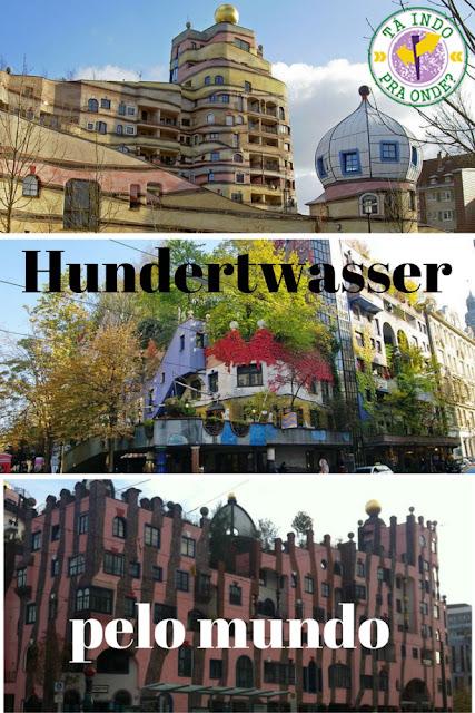 obras do arquiteto austríaco Hundertwasser pelo mundo - Darmstadt, Viena e Madgeburg