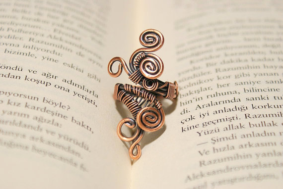 copper wire wrap spiral ring