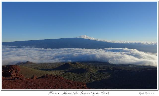 Hawai'i: Mauna Loa. Embraced by the Clouds.