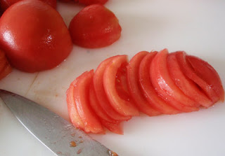 rebanado del tomate para tomate frito