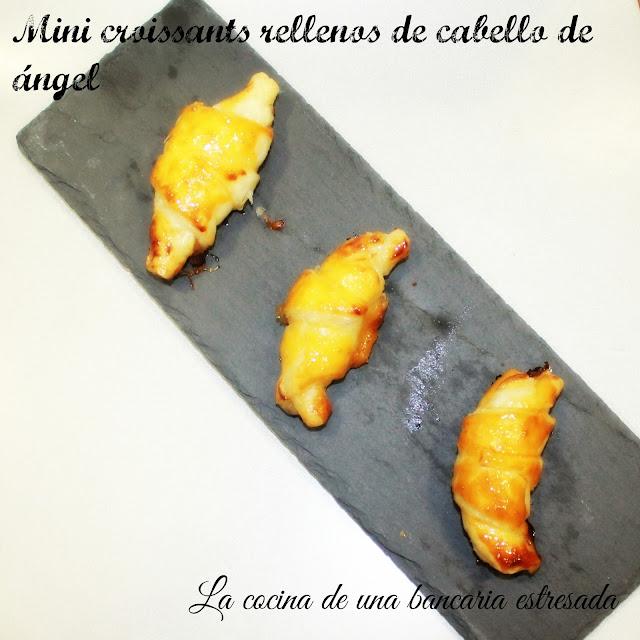 Mini croissants rellenos de cabello de ángel