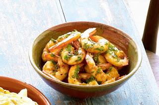 Garlic prawns  meal ideas