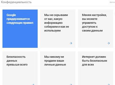 Правила Google о защите персональных данных