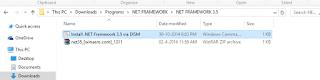 install .Net Framework 3.5