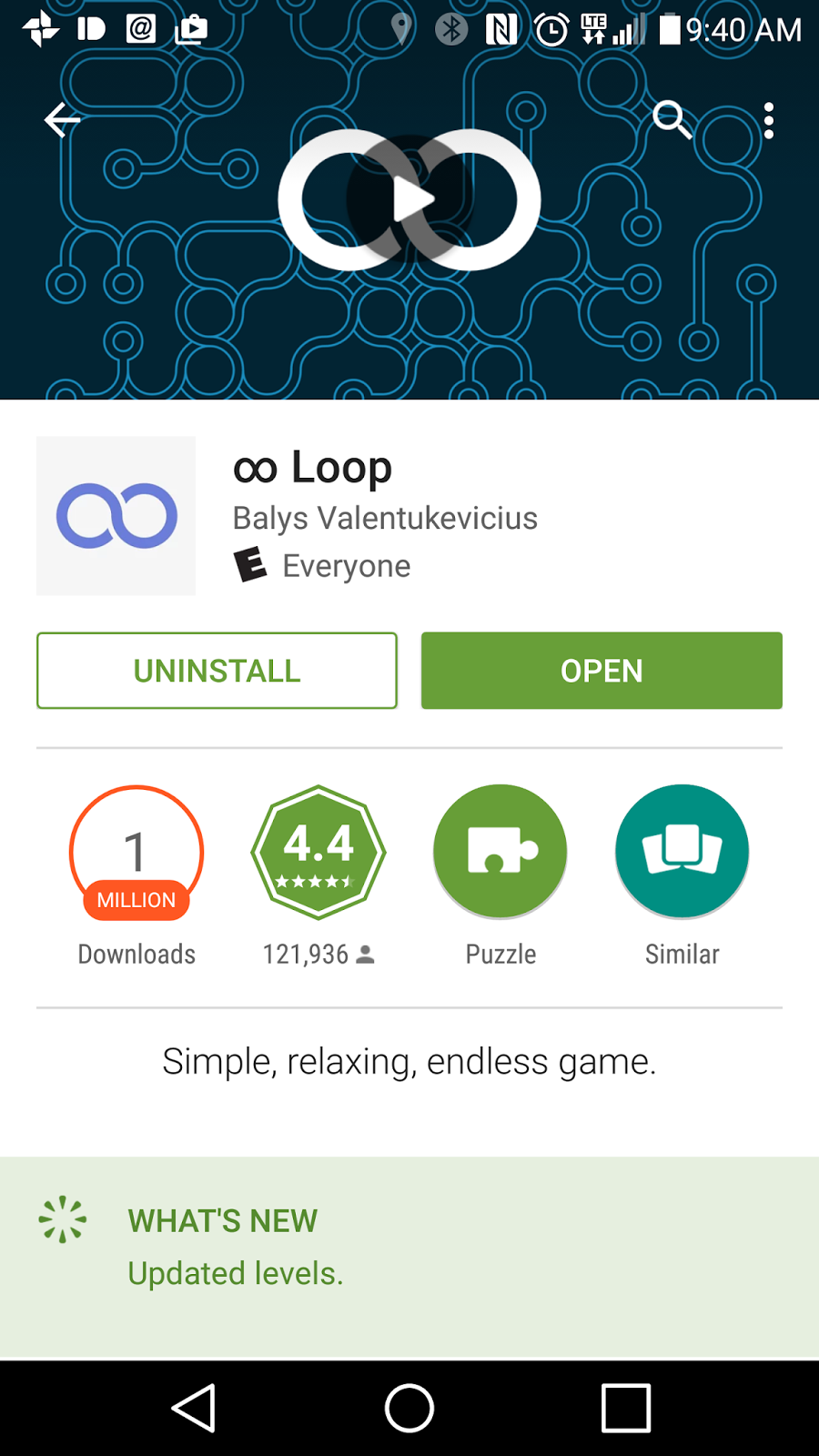 how to loop a video on android
