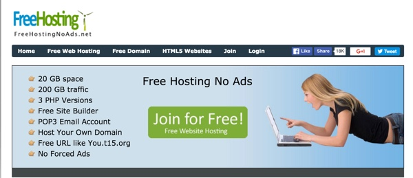 FreeHostingNoAds.net Top 4 Free Hosting Providers For Beginners to Learn WordPress : eAskme