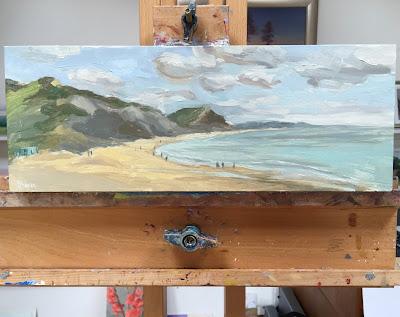 #132 'Charmouth Beach, Dorset' 6×15.5″