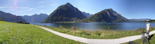 Cycling near Lake Hallstatt, Austria