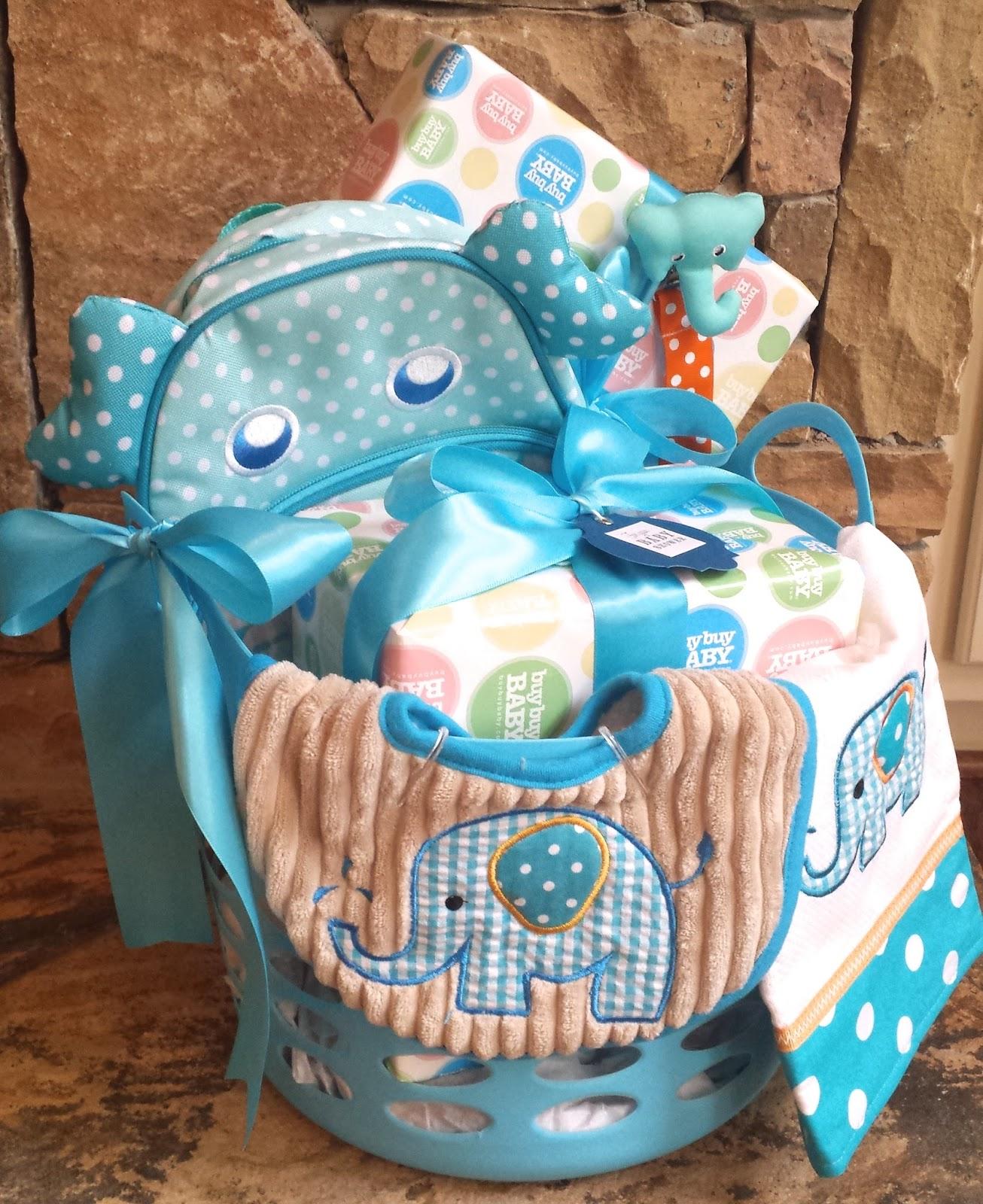 503722145fb9a Diy Baby Shower Gift Basket And Bow Diy Ideas · Diy Baby Shower ...
