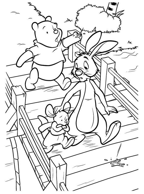 Tranh cho bé tô màu gấu Pooh 35