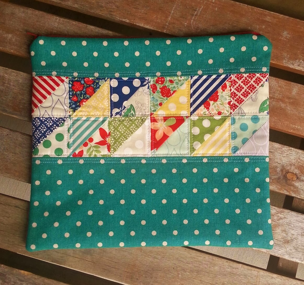 April Showers Mochi Dot Patchwork Case by Fabric Mutt