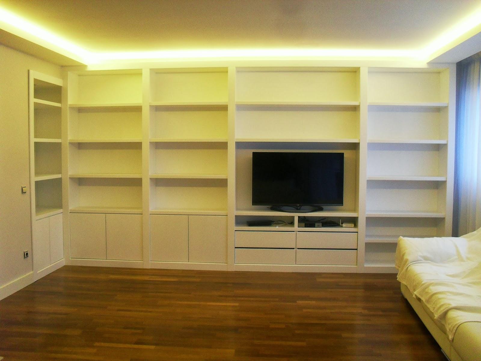 Librerias a medida madrid muebles librerias lacadas de calidad librerias a medida en madrid - Librerias salon blancas ...