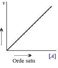 Grafik  Reaksi orde satu