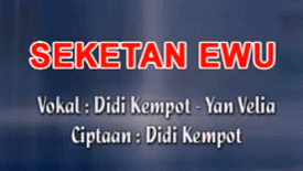 Lirik Lagu Seketan Ewu - Didi Kempot