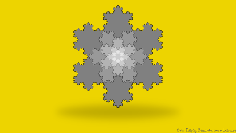 Wallpaper matemático 15: Fractal Floco de Neve [Curva de Koch]