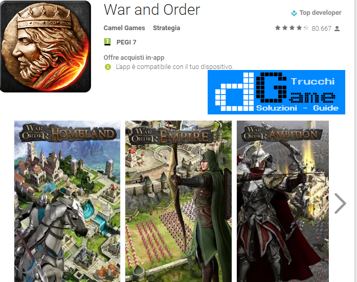 Trucchi War and Order Mod Apk Android v1.0.43