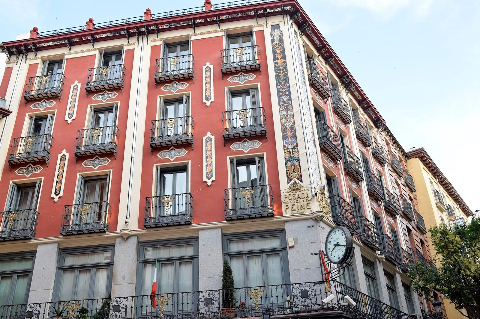 posada del peine hotel madrid landmark