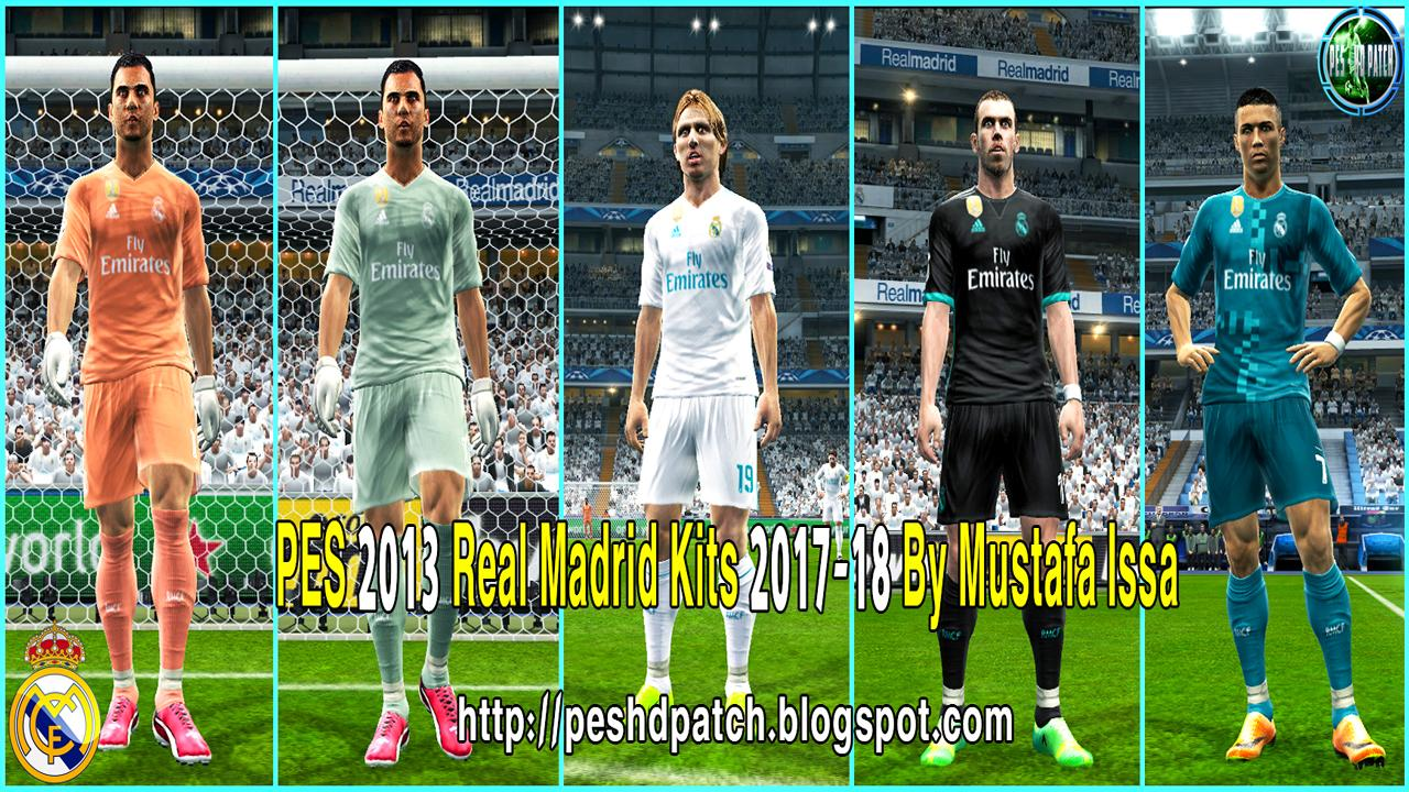 e3f74f88c68 Yükle (1280x720)PES 2013 Real Madrid 2017-18 Kit New Font LaLiga and UCL By  Mustafa Issa - PES PatchPES 2013 Real Madrid 17-18 Kits New Font LaLiga and  UCL.
