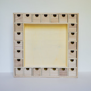 knoll wood lane unfinished advent calendar with drawers