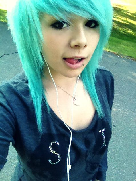 A Month In Hair Colors Today Cyan Shades The Haircut Web