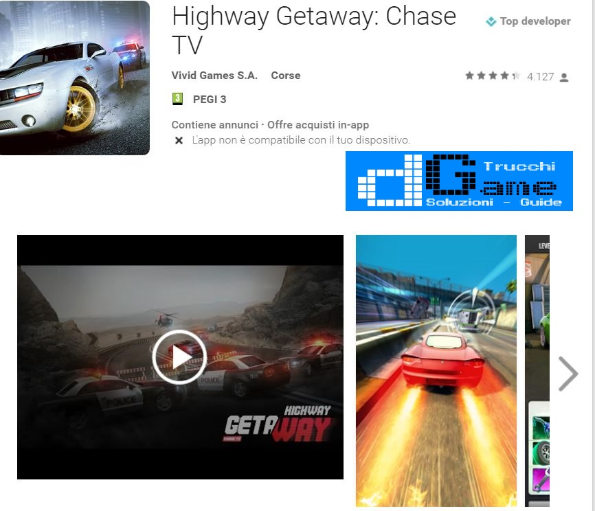 Trucchi Highway Getaway: Chase TV Mod Apk Android v1.0.3