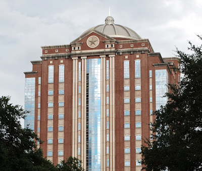 West-facing facade of modern Harris County Civil Courthouse