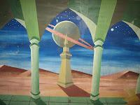 Saturn in der Wüstenlandschaft - zum vergrößern bitte anklicken