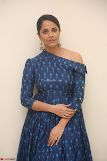 Anchor Anasuya in a Blue Gown at Jai Lava Kusa Trailer Launch ~  Exclusive Celebrities Galleries 004.JPG