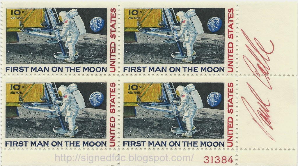 Signed Covers USA 1969 First Man On The Moon Stamp Issue