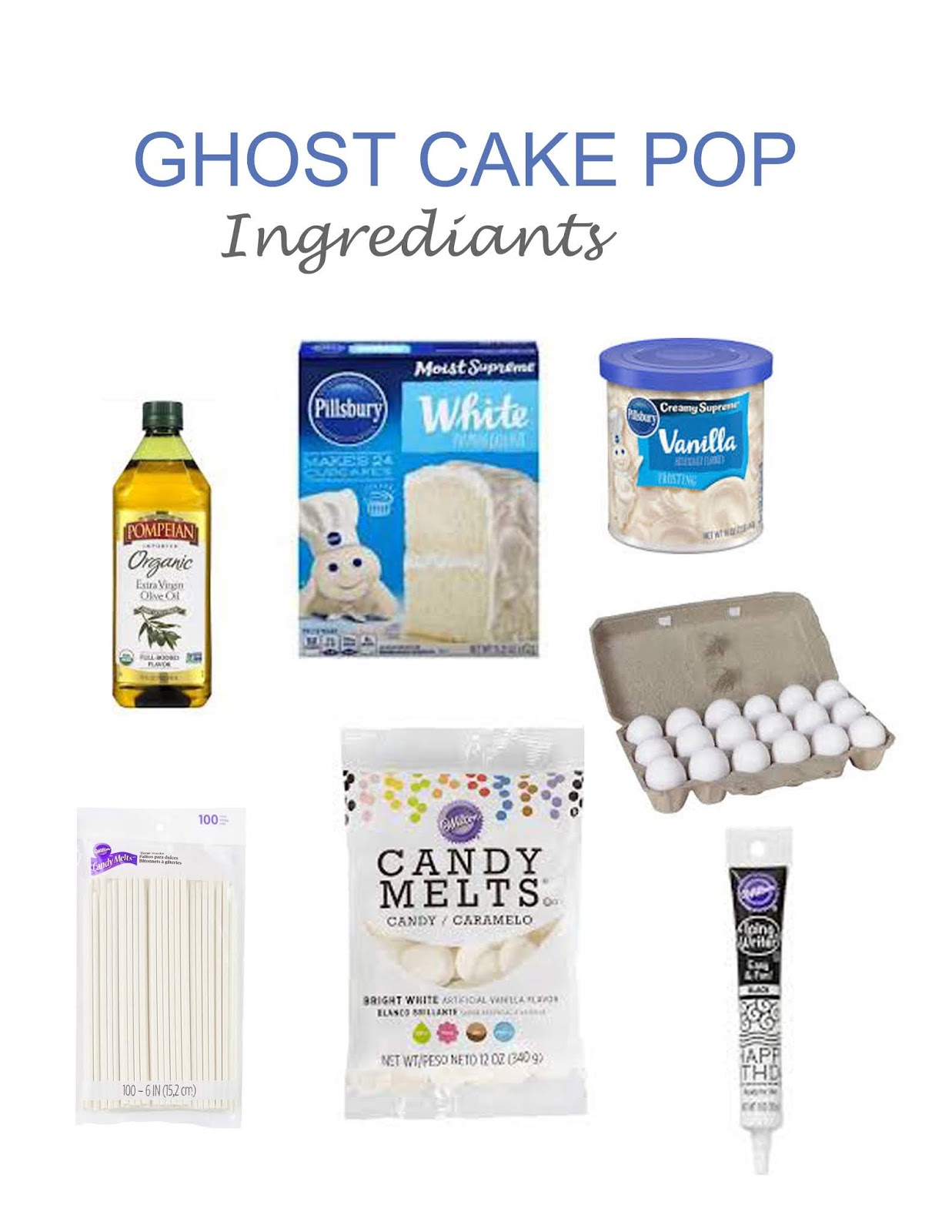 easy ghost cake pop recipe