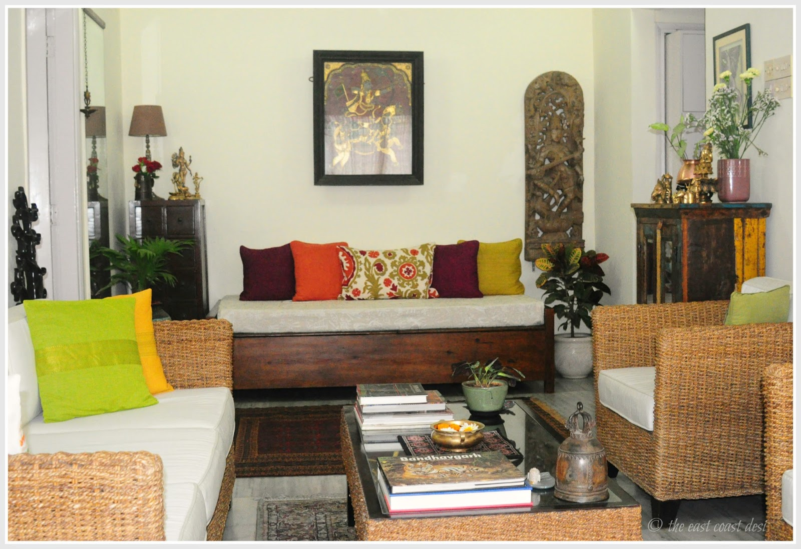 The east coast desi an aesthete 39 s paradise home tour for Indian foyer decorations