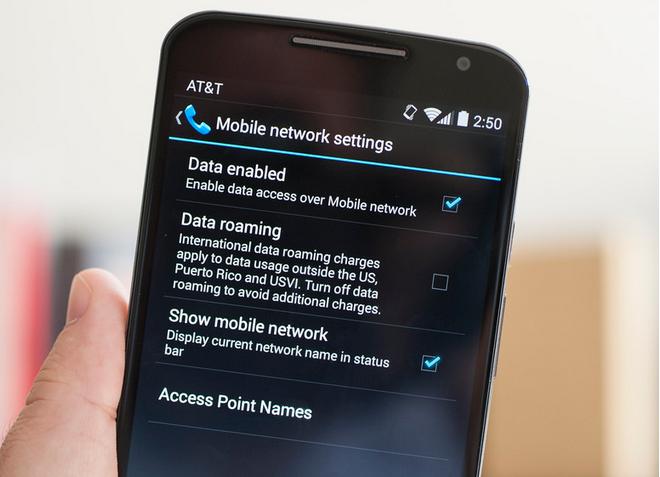 Cara menyembunyikan nama jaringan yang mengganggu di Moto X