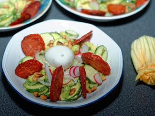 Salade rouge et verte
