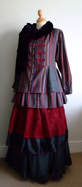 Victoriana two piece upcycled by Karen Vallerius