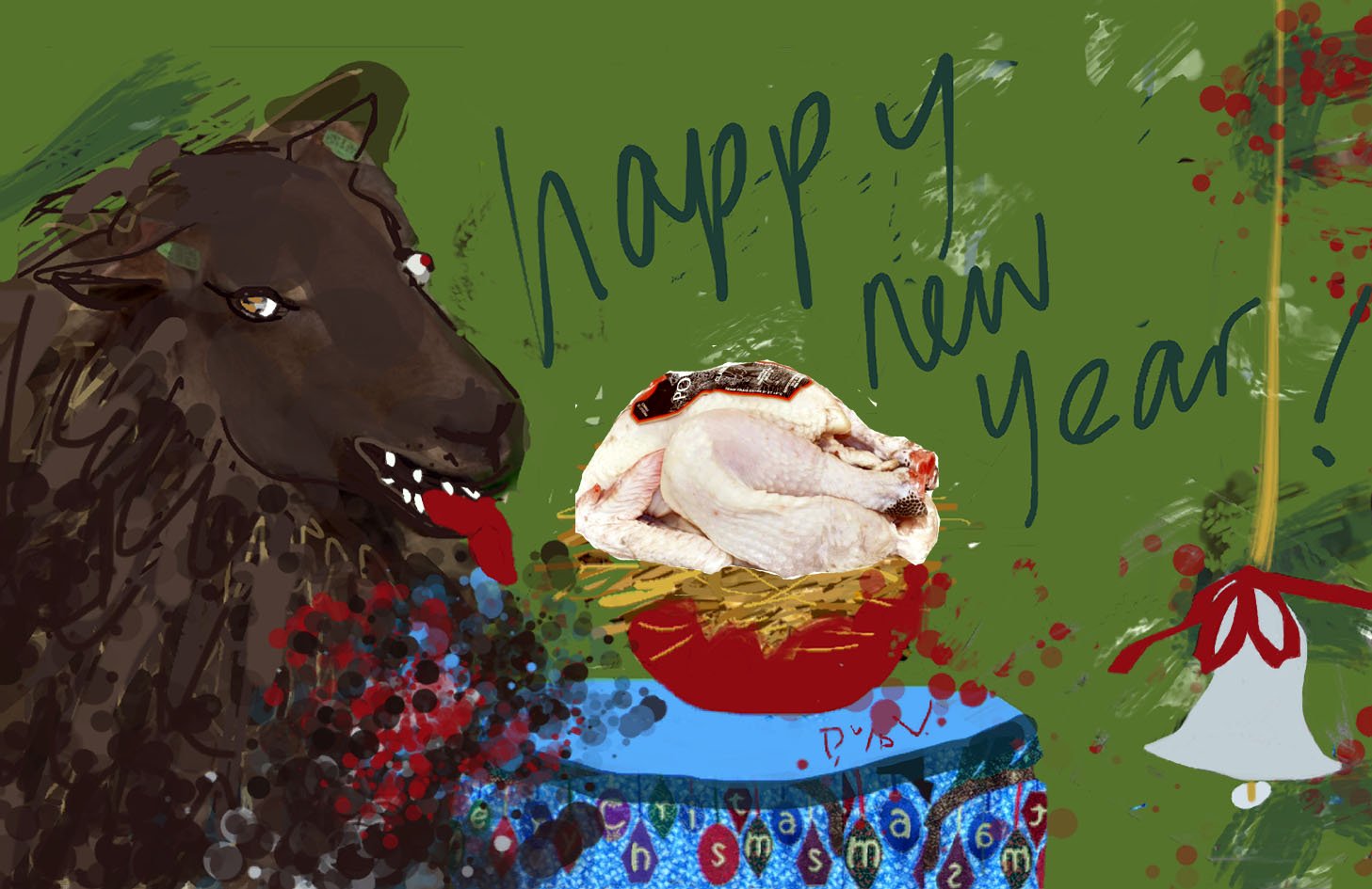 Happy New Year, free digital painting
