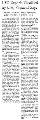 UFO Reports Throttled by CIA, Physicist Says - Los Angeles Times 10-9-1966