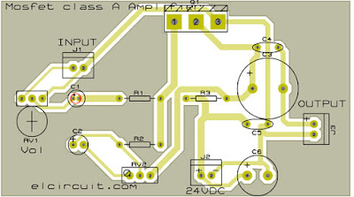 PCB Layout Mosfet Power Amplifier