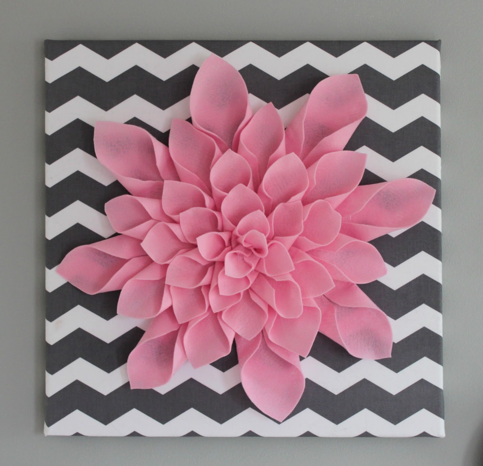 Weihnachtsdeko Aus Küchenrolle All Things Diy Chevron Flower Canvas Art