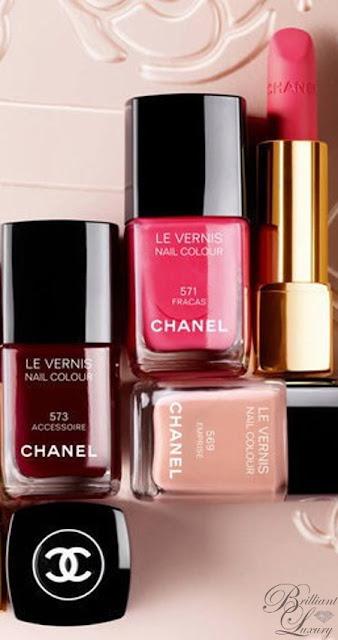 Brilliant Luxury ♦ Chanel nail lacquer and lipstick #beauty #makeup