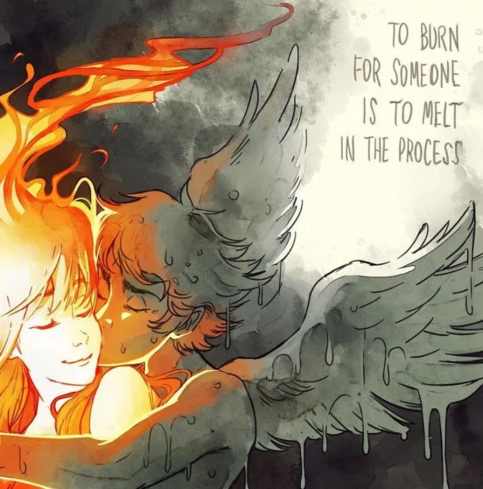 Brazilian Artist Beautifully Illustrates The Love Story Of Icarus And The Sun, Inspired By A Greek Myth