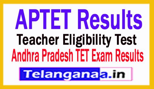 AP TET Results 2018 Andhra Pradesh TET Results 2018