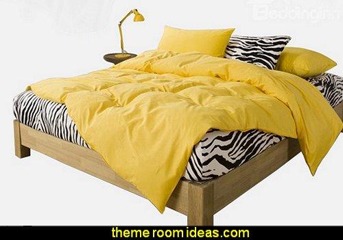 Zebra Yellow 4 Piece Bedding Sets