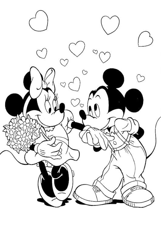 Minnie mouse y mickey para colorear