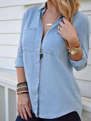 casual style for women,chic denim shirt outfit ideas for ladies - 2019,how to look taller for women,business casual women,casual outfit ideas,casual outfits for spring,best jeans for women,how to wear a blouse,casual outfits,how to wear floral blouse,style tricks for petite women,denim,women,jeans for short women,denim outfits,casual,smart casual women's outfits,petite women fashion