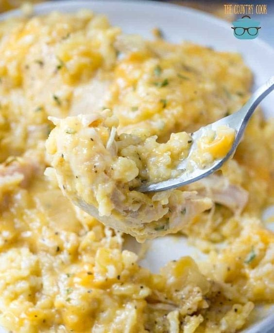 Crockpot Cheesy Chicken and Rice